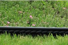 AKCE 50% SLEVA !! - Obrubník v pásech GARDEN BRAID - černý - 1,12 m
